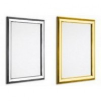 Polished Shiny Gold and Silver Snap Frames, 25mm