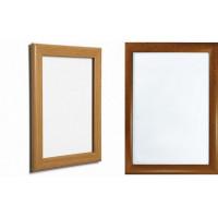 wood effect snap frames, pine, oak 25mm, wooden style frames, clip frames, poster frames, aluminium frames, wood notice display, wooden effect poster display
