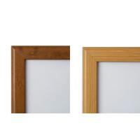 Wooden Effect Lockable Snap Frames, Oak, Pine, wood look clip frame, secure poster clip frame display