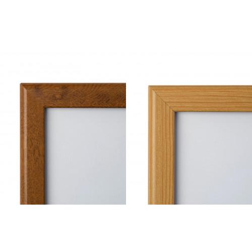 40 X 60 Wooden Effect Lockable 32mm, 40 X 60 Wood Frame Mirror